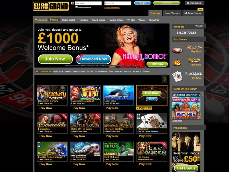 eurogrand casino mac