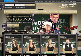 1 Screen paddypower  282x198 4 Paddy Power Casino Review