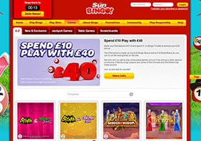 screen Sun Bingo Casino 282x198 3 Sun Bingo Casino Review