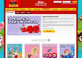 screen Sun Bingo Casino 282x198 5 Sun Bingo Casino Review